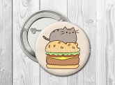 Значок - Pusheen the cat / Кот Пушин